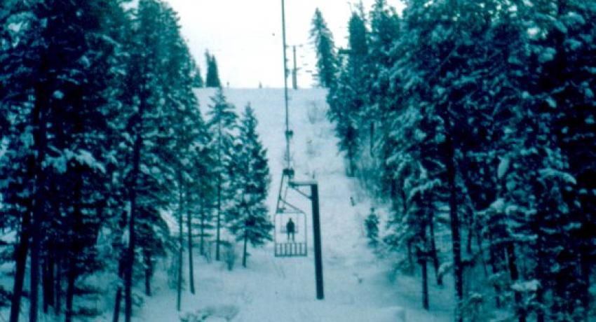 Going up the chair lift