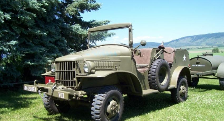 1941 Dodge Command car that was under the command of Brig. Gen. Beiderlinden 44th Inf, 220th Field Artillery who masterminded the surrender of Heidelberg, Germany, without firing a shot. He is now buried in Arlington Cemetery.